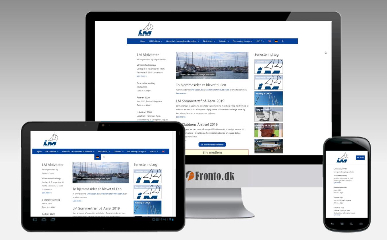 LM Klubben, Danmark - Sammenlægning af hjemmesider